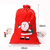 圣诞礼物袋 无纺布苹果袋圣诞装饰品老人贴花袋节日礼品袋子背包