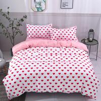床单三件套 学生 宿舍 单人床双人棉单件被单1.2米女生床上用品 爱心朵朵 K