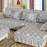 欧式布艺沙发垫四季通用型防滑全盖套简约现代全包靠背巾