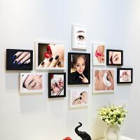 美甲照片墙定妆指甲壁画美容院化妆品店背景墙纹绣装饰相框墙挂画