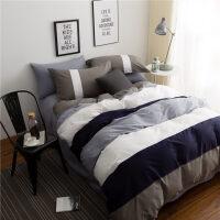 简约欧式棉床单四件套棉被褥套装六件套宿舍床上三件套1.2m床