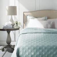 60支长绒棉绗缝床盖三件套纯棉欧式夹棉被子绗缝被薄被 240x250cm(床盖*1,枕套*2)
