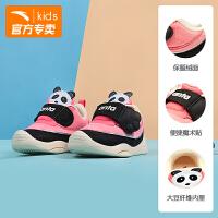 安踏婴童鞋儿童学步鞋2018冬季新品宝宝鞋熊猫鞋豆豆鞋A33833805