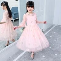 女童连衣裙夏天 儿童大童洋气裙子 女孩公主纱裙7-8-9-10-12-14岁