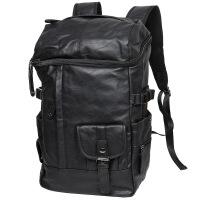 双肩包男软皮电脑包户外旅行背包