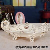 陶瓷水果盘欧式客厅茶几干果盘家居用品实用装饰摆件新婚*
