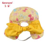 卡蒙1-3岁宝宝渔夫帽可爱婴儿遮阳帽儿童帽子女护脖护颈夏季盆帽4764