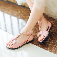 女童凉鞋童鞋夏季新款韩版时尚中大童沙滩鞋学生小公主鞋
