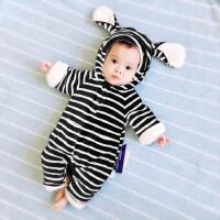 201805041935241女婴儿连体衣服0岁3个月1男宝宝秋冬装6新生儿外套装加绒加厚棉衣