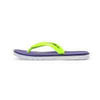 New Balance新百伦 NB 女沙滩人字拖居家�敉庑菹性硕�拖鞋 W6076WPL/紫色/荧光黄