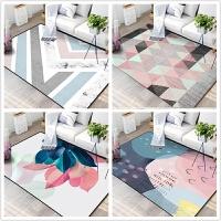 ins新款北欧简约现代风格地毯客厅沙发茶几垫美式家用卧室样板间