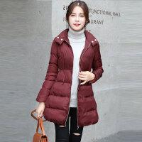 2018冬装新款大码女装冬季中长款加厚棉衣外套 902 Z