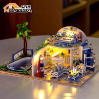 房子模型拼装别墅建筑创意礼物女生 diy小屋清夏小筑手工制作