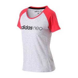 adidas阿迪达斯NEO女装短袖T恤2018年新款运动服BQ0315