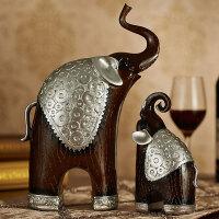 20180625035554328欧式客厅招财摆件奢华电视酒柜工艺品大象一对礼物家居装饰品摆设
