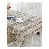 复古文艺棉麻布艺树木纹拍摄照片背景茶几餐桌布盖布台布・ 木纹