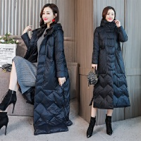 羽绒服 新品女棉衣女长款过膝2018冬装新款时尚韩版加厚夹棉工装羽绒外套潮