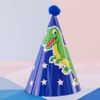 儿童生日派对布置用品侏罗纪森林恐龙主题派对帽儿童男孩生日装饰用品宝宝周岁创意帽子