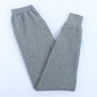 加厚男式纯羊绒裤 秋冬装纯色针织保暖羊毛裤中腰贴身打底毛线裤