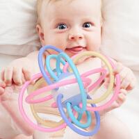 宝宝牙胶磨牙棒手摇铃婴儿玩具0-1岁手抓球咬咬胶