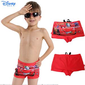 Disney/迪士尼儿童宝宝泳衣裤大小男童平角游泳裤卡通汽车沙滩裤