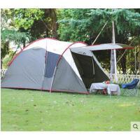 大气牢固登山帐篷前庭后室帐篷户外双层4人帐家庭公园野外露营天幕