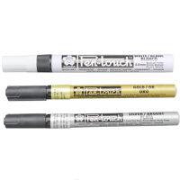 日本樱花 油漆笔0.7mm 金色 银色 白色 补漆 手绘高光笔 商务用 签名笔 樱花 高光笔 签名笔