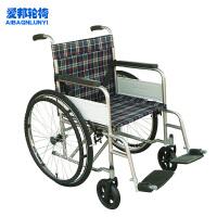 AB/爱邦 手动轮椅车 AB-C22型 轻便可折叠老人代步车 喷塑车架带座便助行器 附安全带