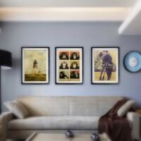 复古海报美式乡村风格客厅装饰画现代餐厅挂画卧室玄关墙画壁画框