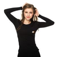 20180317224914102 长袖紧上身衣运动健身服女士瑜伽服高弹紧身t恤 修身 黑色