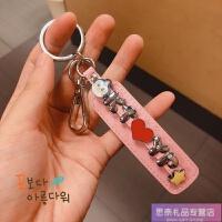 ins韩国可爱diy钥匙扣定制挂件男女个性字母名字情侣礼物包包挂饰