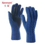 卡蒙羊毛针织羊皮拼接手套女冬骑车保暖加厚短款手套户外开车防寒2845