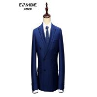 秋季男士西服套装 商务修身型礼服藏青白色条纹西装外套 EVXF037