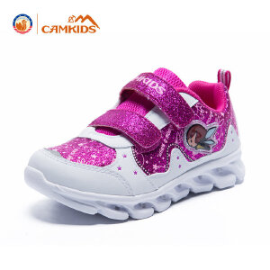 CAMKIDS女童鞋 2018春款中童休闲鞋发光鞋儿童鞋运动鞋小女孩