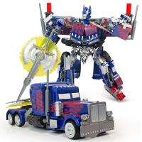 声光版汽车机器人模型男孩儿童玩具