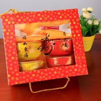 定制景德镇韩式陶瓷饭碗套装生日*寿碗红碗黄碗回礼盒答谢礼 四碗四勺套装 花色备注