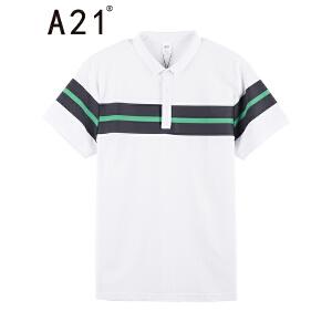 A21男装短袖polo衫青春时尚保罗衫2017夏季新品翻领修身青年衣服