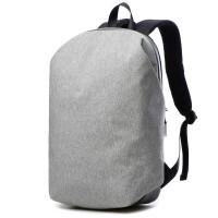 简约电脑包双肩包男15.6寸14寸韩版旅行防盗背包大学生书包女 19-灰色