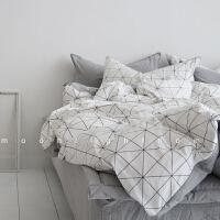 棉四件套北欧简约套件学生宿舍床品棉三件套床上用品1.2m床