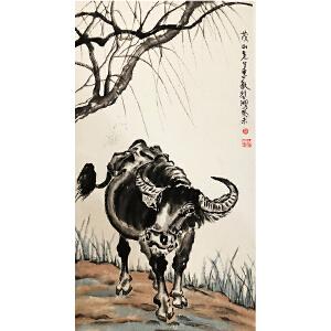 徐悲鸿《牛》著名画家