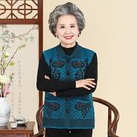 中老年秋装马甲女 奶奶装针织毛衣背心 老人妈妈装羊毛坎肩春秋装