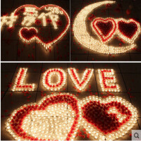 爱心蜡烛浪漫生日求爱表白器家用场景布置香熏欧式创意求婚批�l