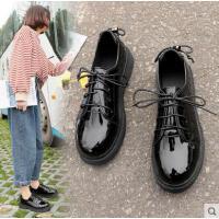 小皮鞋女英伦学院风鞋子女抖音同款新款韩版学生百搭复古漆皮黑鞋潮