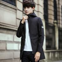 男士风衣中长款外套秋季新款韩版修身潮青年学生休闲春秋夹克