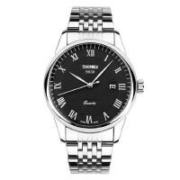 男士手表钢带防水石英表情侣复古腕表潮流时尚女士时装手表
