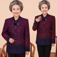新款中老年女装秋冬装薄款唐装毛呢外套女大码宽松妈妈装复古外衣
