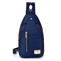 韩版潮女士胸包女包男包单肩斜挎包尼龙牛津帆布包运动小包包b 蓝色3315胸包