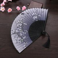 扇子折扇女日式和风樱花扇旗袍表演道具古典折叠舞蹈扇