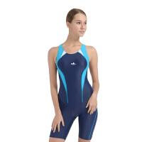 YINGFA英发 女士连体五分裤泳衣YF1631 女款显瘦运动胸垫游泳衣