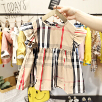 2-6岁女宝宝背心裙小女童夏装韩版复古格子裙子3女婴儿连衣裙